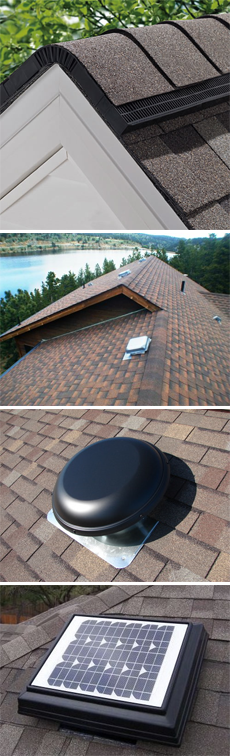 ridge-box-electric-solar attic vents denver